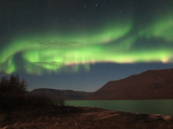 Nothern lights on Putorana Plateau